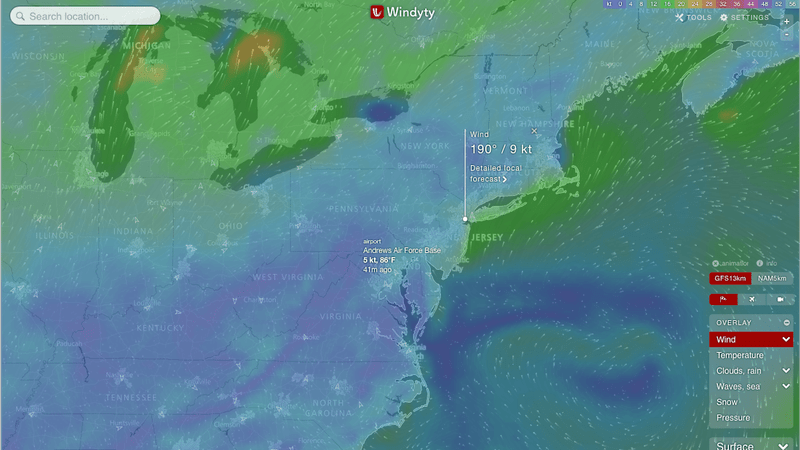 Windyty Is an Interactive Weather and Wind Map with Very