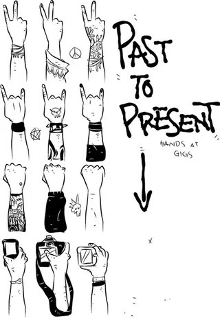 Concert Hands Evolution From the 1960s to 2010
