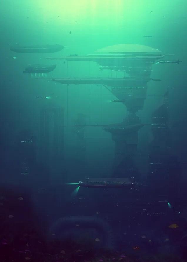 Futuristic Underwater World