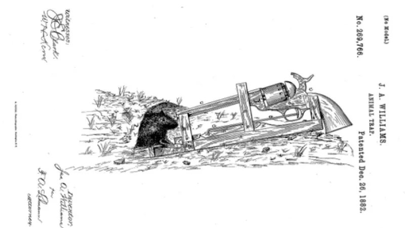 This 1882 Patent for a 50-Caliber Mousetrap Is Probably