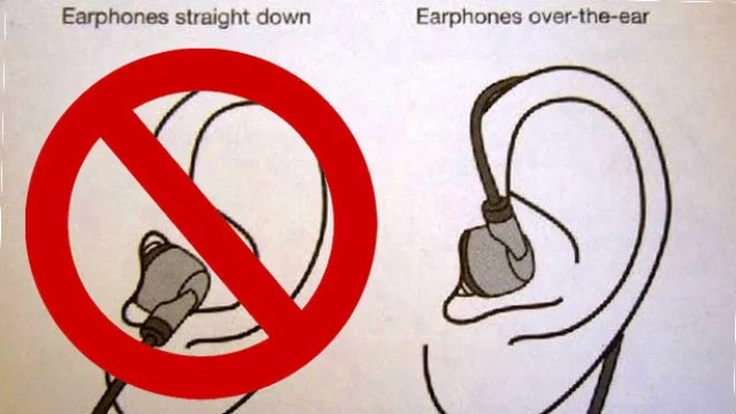 Image result for ear phones the right way wear