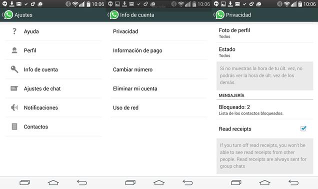 WhatsApp ya permite desactivar en su beta el doble check azul. ¿Cómo?