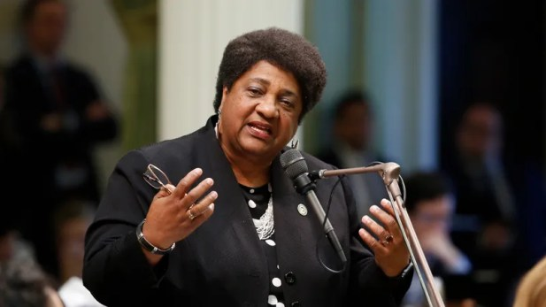 Assemblywoman Shirley Weber (D-San Diego) urges lawmakers to approve her police use-of-force measure May 29, 2019, in Sacramento, Calif. The Assembly approved her legislation, Assembly Bill 392, which would bar police from using lethal force unless it is necessary to prevent imminent harm to themselves or others.