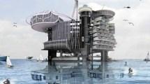 Ocean Vacation Abandoned Oil Platform