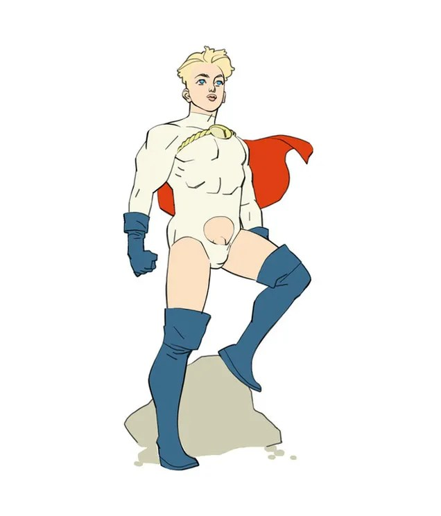 Here Is The Male Version Of Power Girl's Boob Window (NSFW)
