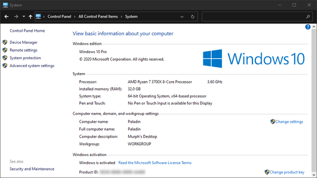 phl1d48tkkyewkmhizmv How to Find the Missing 'System' Control Panel in Windows 10 | Gizmodo