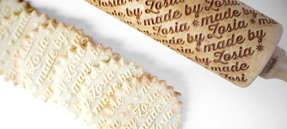Embossed Rolling Pins Let Bakers Sign Their Creations