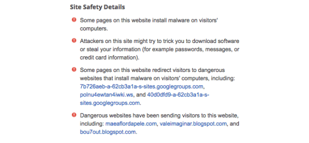 Google Warns Users About a Dangerous Website Called Google.com