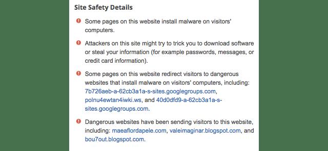 Google Warns Users About a Dangerous Website Called Google.com