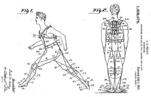 US patent no. 440684: the powered exoskeleton!