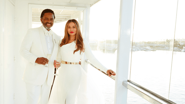 Queen Tina Knowles Got Married on a Yacht This Weekend
