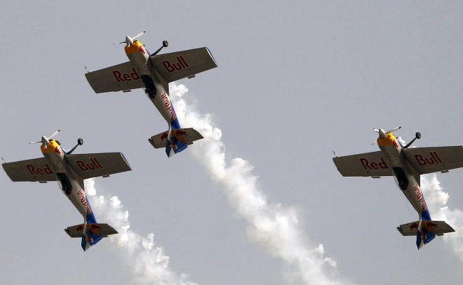 Red Bull Aerobatic Planes Collide Mid Air During Performance