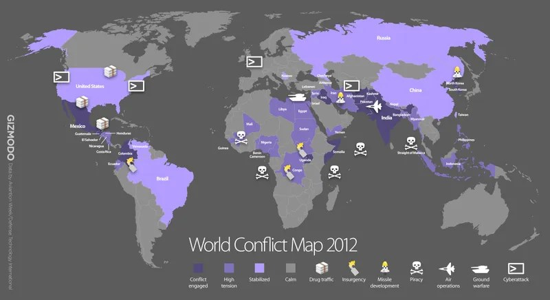 world map of all