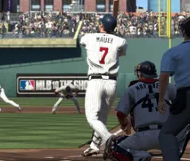 Minnesotas Franchise Performer Joe Mauer The Newly Minted American League Most Valuable Player Will Grace The Cover Of Mlb 10 The Show Scea Announced