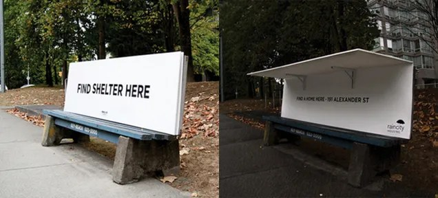 This Ad for a Homeless Shelter Is Also a Mini Homeless Shelter