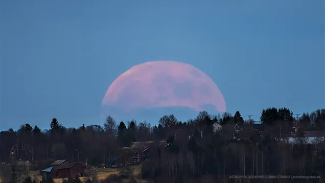 Oh my god, check out the giant full moon over Sweden!