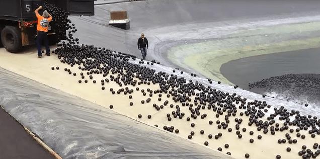 Millones de bolas de plástico lucharán contra la sequía en California