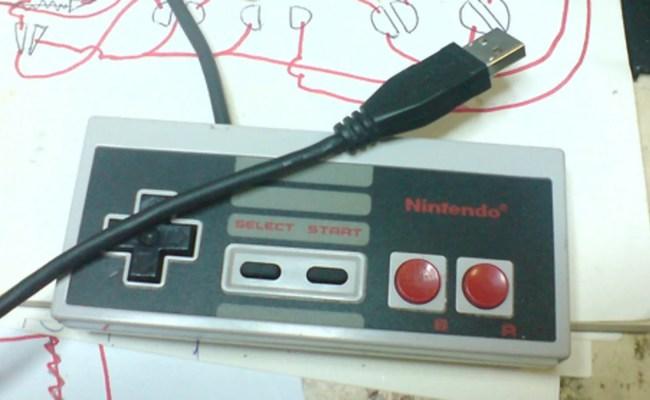 Diy Nes Usb Controller Plays Games Contains Emulator For
