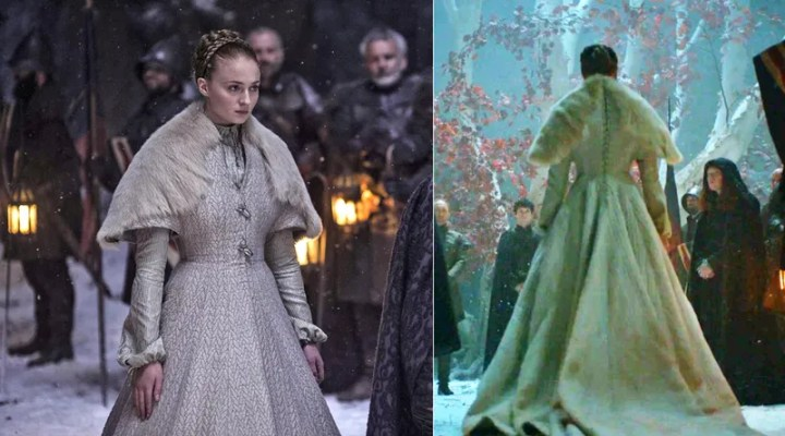 Sansa robe de mariée blanche