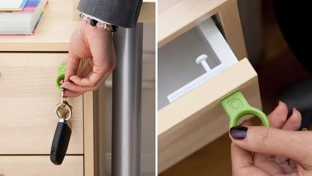 Quirkys Invisible Drawer Locks Only Open With a Magnetic Key
