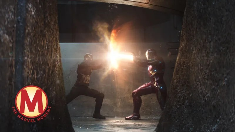captain america fights iron