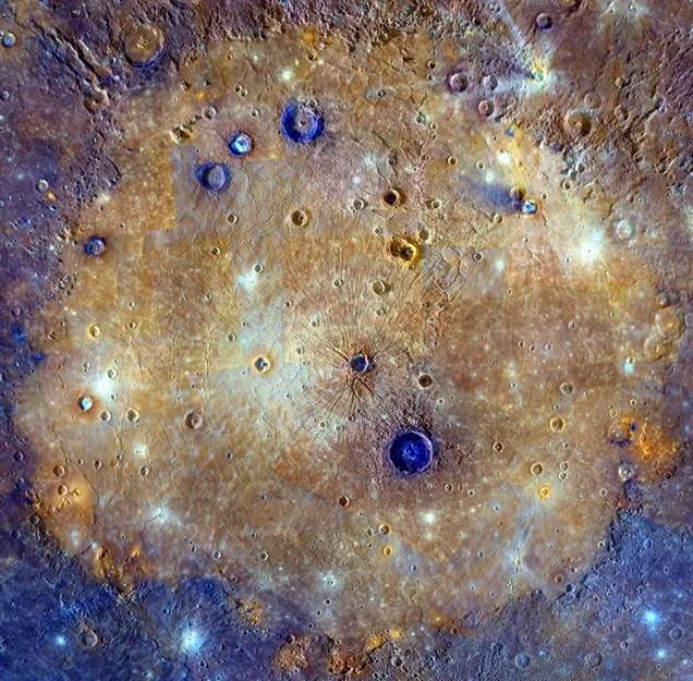 A Color-Saturated Look At Mercury's Massive, Ancient Caloris Basin