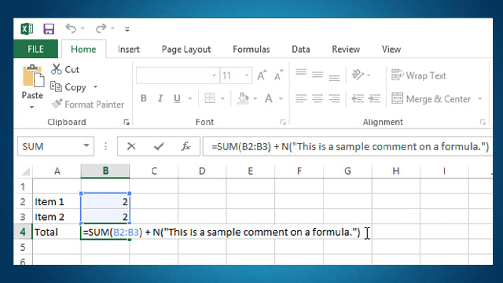 Add Comments To A Formula In Excel For Your Future Reference