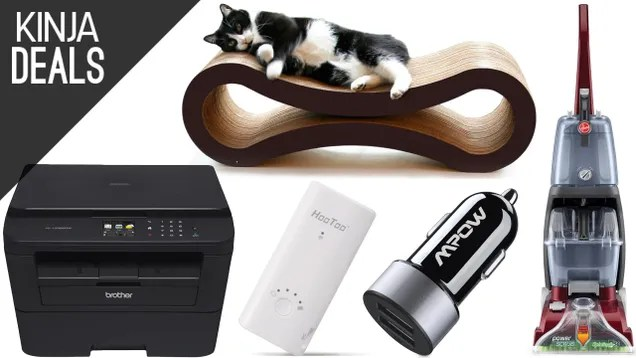 Today's Best Deals: Laser Printer, Carpet Cleaner, Pet Lounger, and More