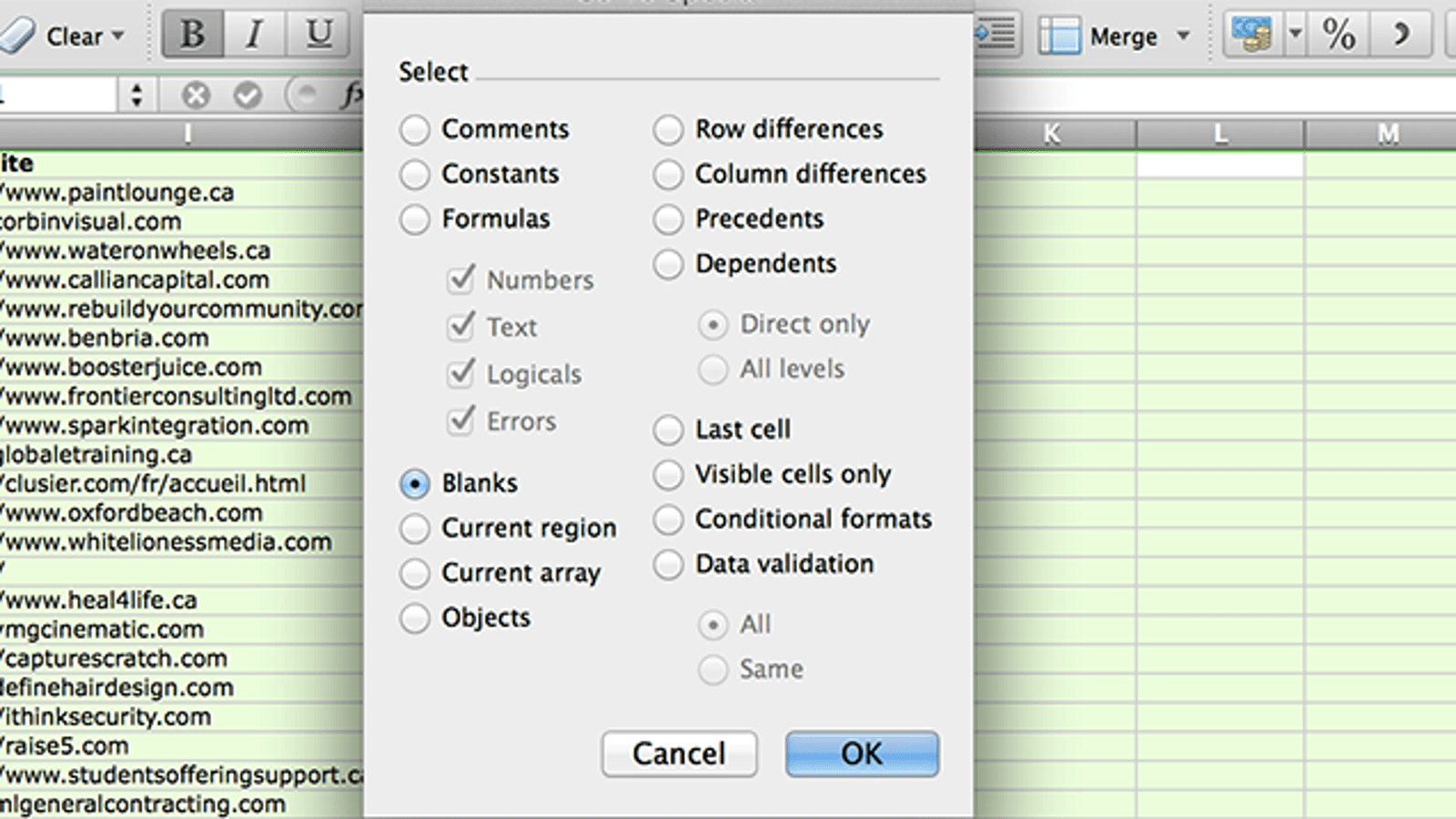 Delete Blank Rows And Columns In Excel With A Few Clicks