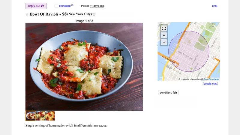 Illustration for article titled Mario Batali Reduced To Selling Bowl Of Ravioli On Craigslist