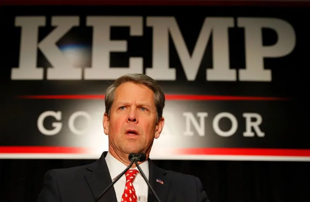 Brian Kemp on election night Nov. 6, 2018, on his way to becoming Georgia's governor