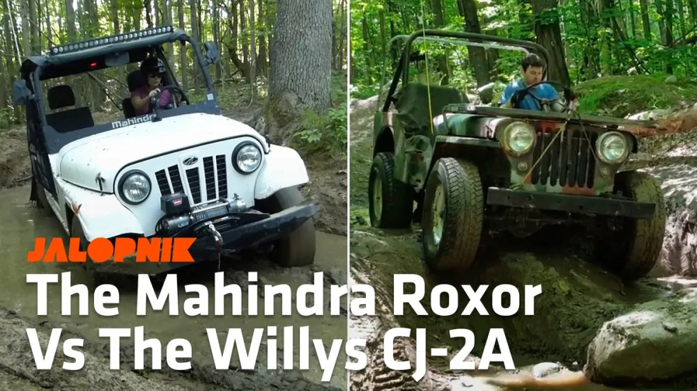 medium resolution of here s how the mahindra roxor compares to a 1948 willys cj 2a jeep off road