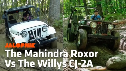 small resolution of here s how the mahindra roxor compares to a 1948 willys cj 2a jeep off road