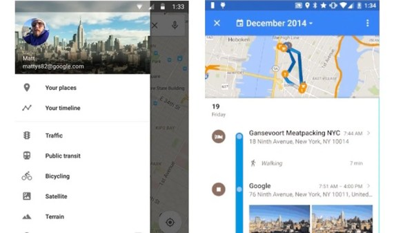 Google Maps Shows Location History In Timeline