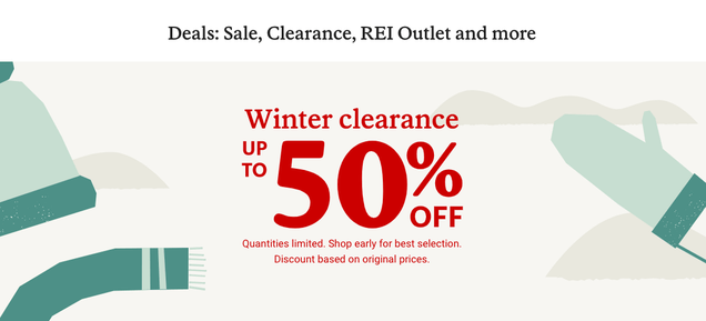 cfsklc3qxykoor5ls4hz REI Is Having A Clearance Sale And Everything Is 50% Off | Gizmodo