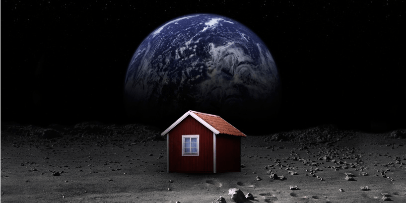 One Man's Crazy Quest To Build a Tiny House on the Moon