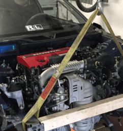 this madman is stuffing a new honda civic type r motor into a 1992 civic hatch [ 1200 x 675 Pixel ]