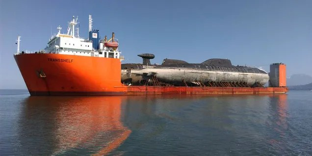 This Giant Russian Ship Is Toting Two Submarines