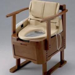 Portable Potty Chair Adirondack And Ottoman Plans Japanese Wooden Automatic Butt-spraying Toilet