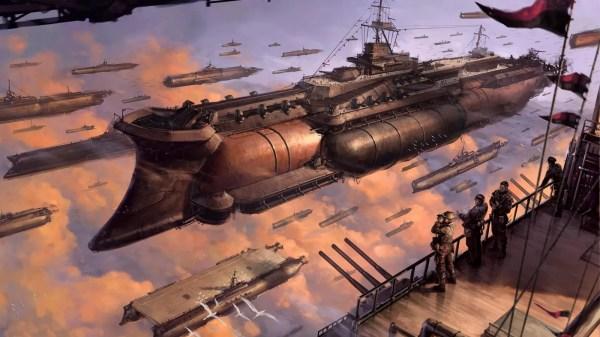 Magical Flying Ship Illustrations