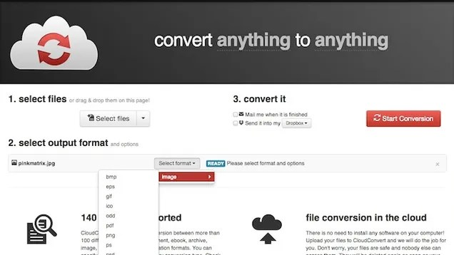 CloudConvert Converts Almost Any File Type Between Formats