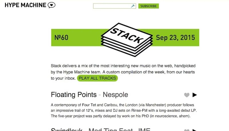 Stack Is a Weekly Playlist of New Music, Curated by Hype Machine