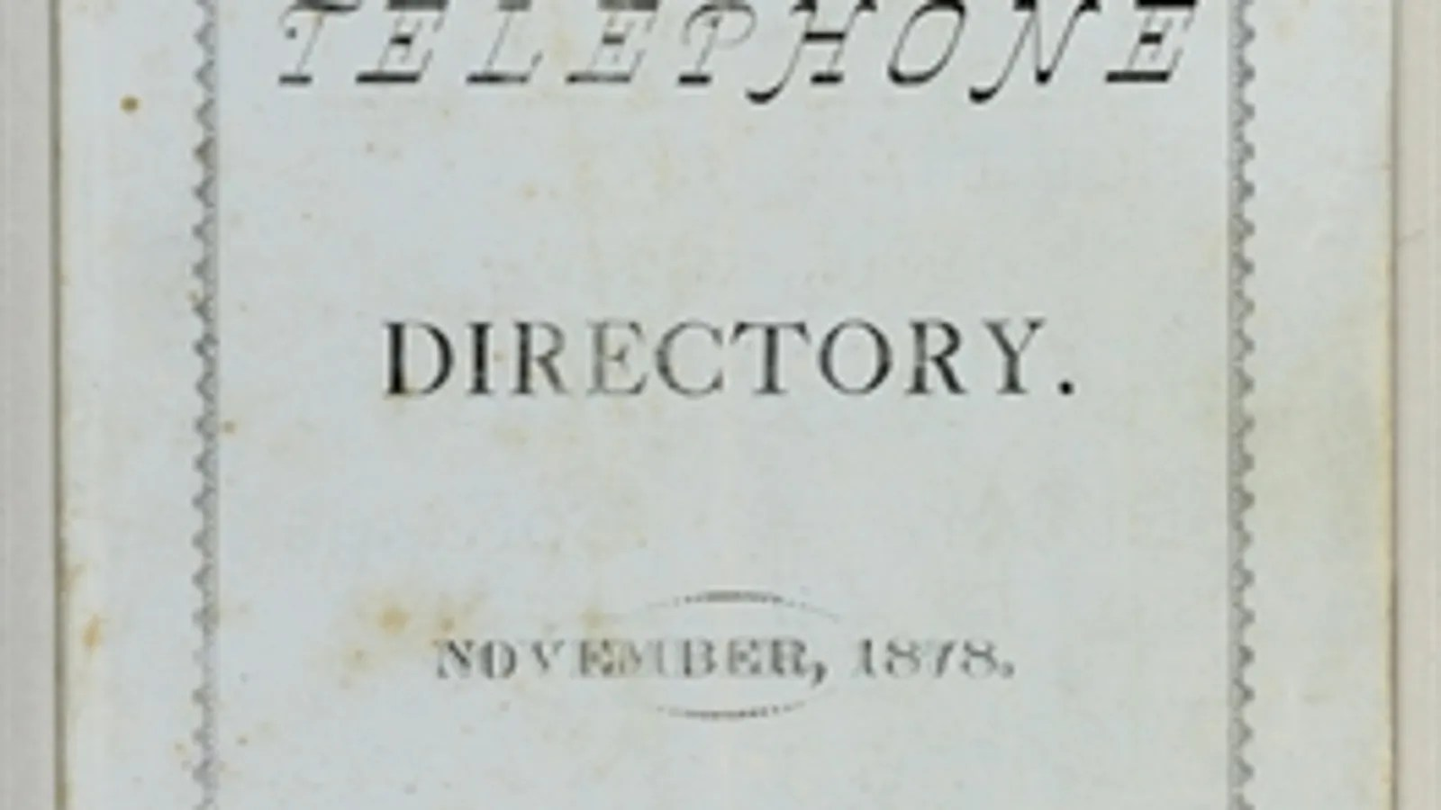 First-Ever Phone Directory and Instruction Manual to Be