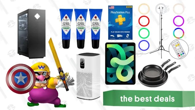 q8afdvyebimnflzksiko Wednesday's Best Deals: Hasbro Toy Sale, HP Omen 25L w/ RTX 3070, iPad Air, Ring Light Kit, Jack Black Lip Balm, PlayStation Plus, Proscenic Air Purifier, and More | Gizmodo