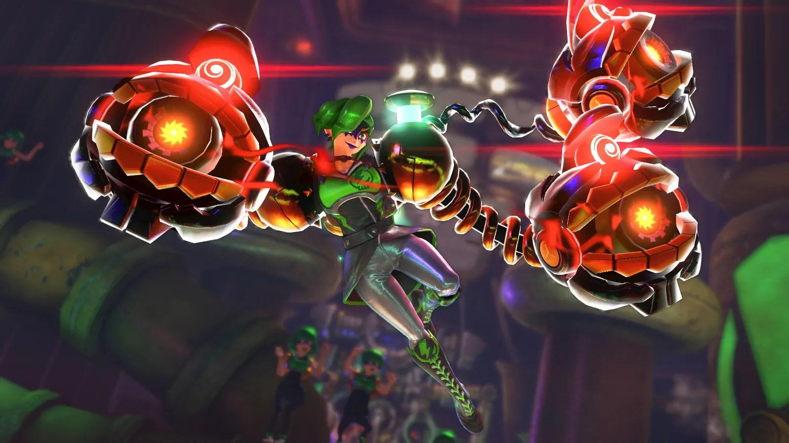 Pop Art Wallpaper Girl Nintendo S Arms Gets Its Last New Character