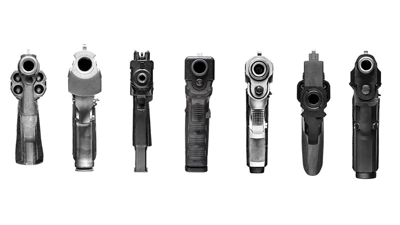 What Guns Look Like Point Blank