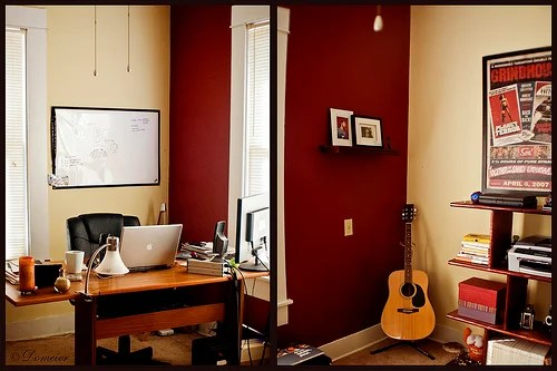 Earth Tones and iMacs A Cozy Home Office