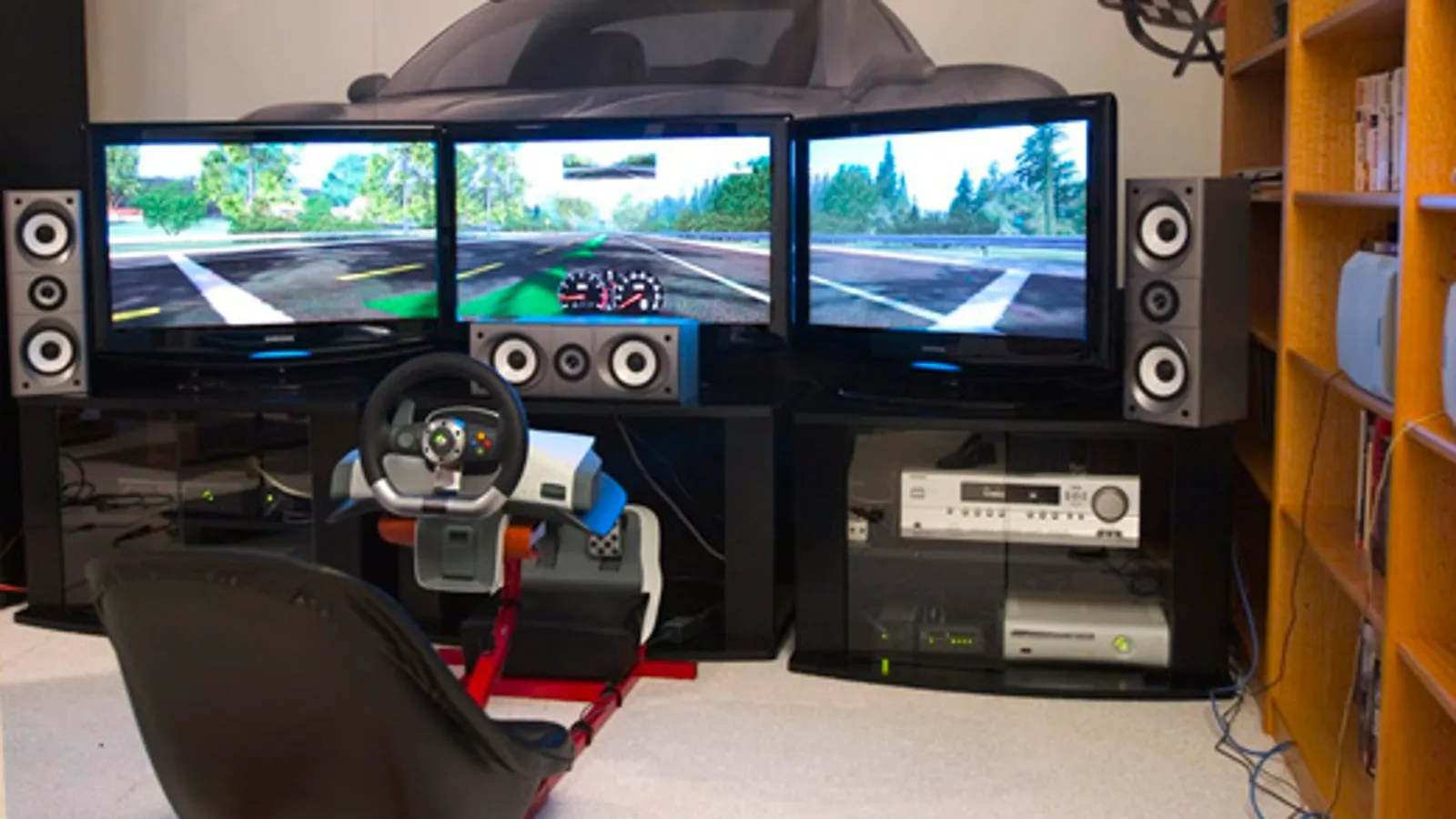 driving simulator chair savannah's cover rentals & events the ultimate xbox 360 racing setup