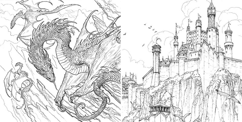 The Official Game of Thrones Coloring Book Really Isn't
