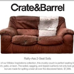 Crate And Barrel Lounge Sofa Pilling Wrought Iron Sets Online Introduces Line Of Disgusting Couches You Can Put On Your Porch